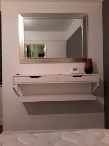 Ikea floating shelves fixed to wall - total price £35