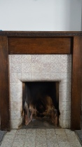 Fireplace in original design