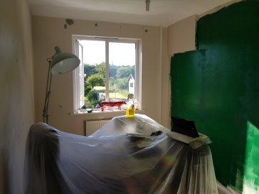 Office - 1st coat of Valspar Devonshire Green